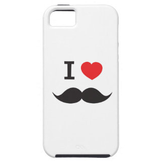 I Love Mustache Case For The iPhone 5
