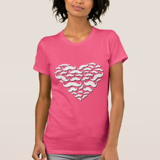 I Love Mustache Colorful T-shirt