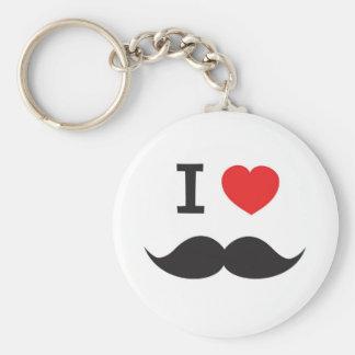 I Love Mustache Keychain