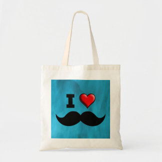 I Love Mustache Moustache Stache Tote Bag