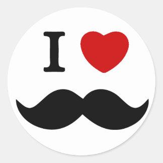 I love Mustache Stickers