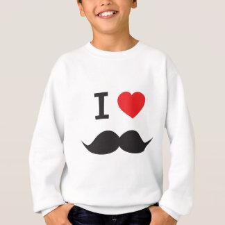 I Love Mustache Sweatshirt