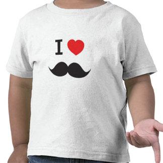 I Love Mustache Tee Shirts