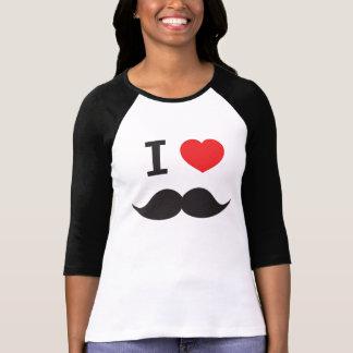 I Love Mustache Tee Shirt
