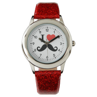i love mustache watch