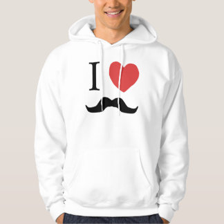 I Love Mustaches Hoodie