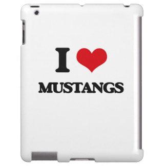 I Love Mustangs iPad Case