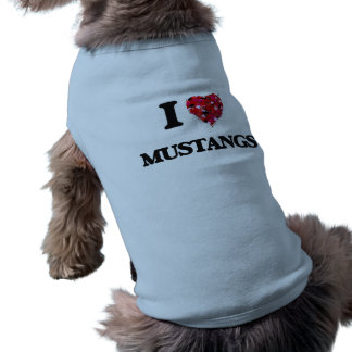 I Love Mustangs Sleeveless Dog Shirt
