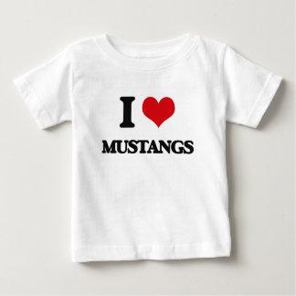 I Love Mustangs Tee Shirts