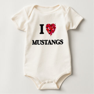I Love Mustangs Bodysuit