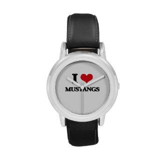 I Love Mustangs Wrist Watch