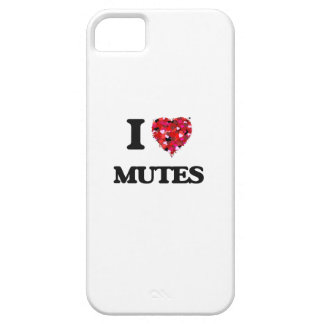 I Love Mutes iPhone 5 Case