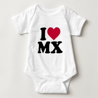 I love MX Motocross Baby Bodysuit