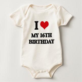I love My 16Th Birthday Baby Creeper