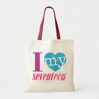 I Love My 17 Aqua Tote Bag