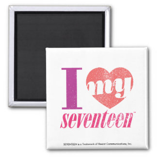 I Love My 17 Pink Fridge Magnet