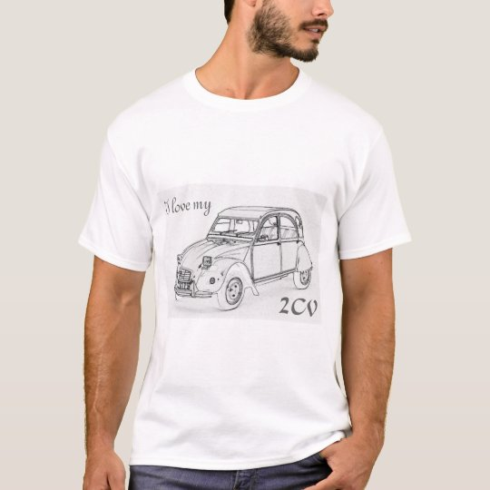 """""""I love my 2-CV"""". Citroen 2-CV sketch on"""