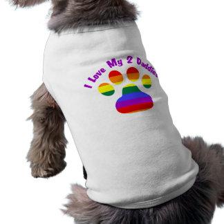 I Love My 2 Daddies Sleeveless Dog Shirt