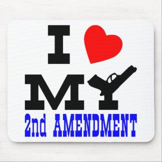 I Love My 2nd Amendment Mouse Pad