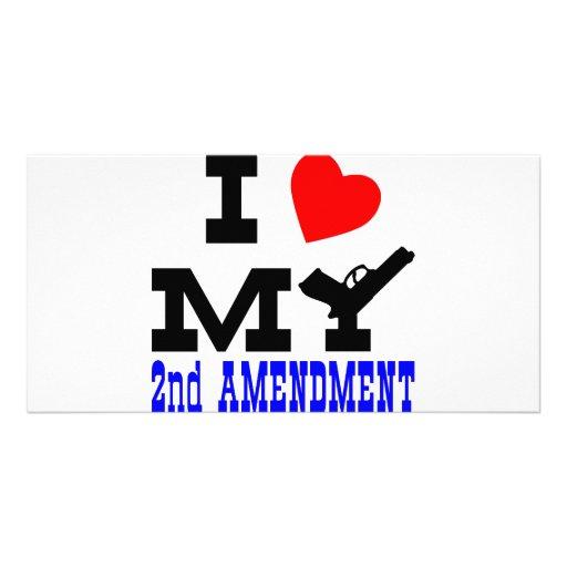 I Love My 2nd Amendment Customized Photo Card