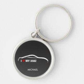 I Love my 350Z w/ faux Carbon fiber Key Ring