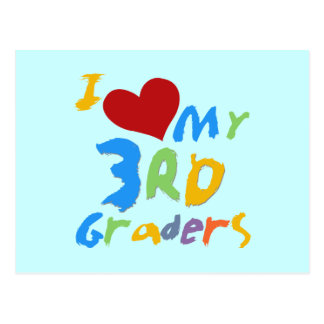 I Love My 3rd Graders Tshirts and Gifts Postcard