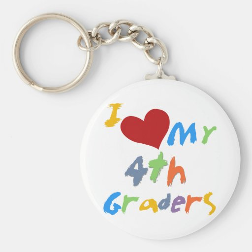 I Love My 4th Graders Tshirts and Gifts Keychains