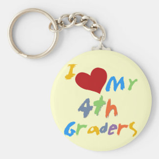 I Love My 4th Graders Tshirts and Gifts Key Chain