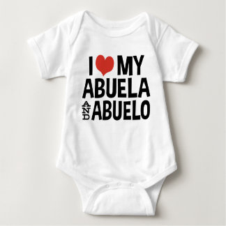 I Love My Abuela and Abuelo Baby Bodysuit
