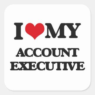 I love my Account Executive Square Sticker