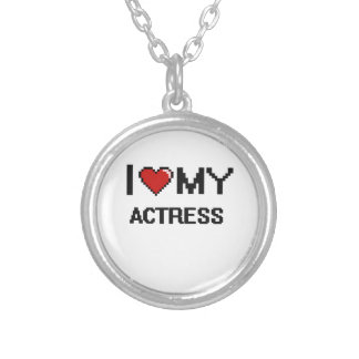 I love my Actress Round Pendant Necklace