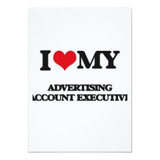 "I love my Advertising Account Executive 5"" X 7"" Invitation Card"