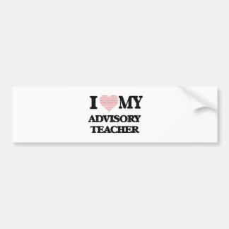 I love my Advisory Teacher (Heart Made from Words) Bumper Sticker