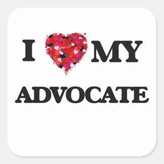 I love my Advocate Square Sticker