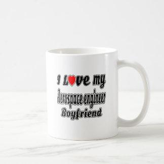 I love my Aerospace engineer Boyfriend Basic White Mug