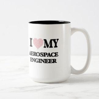 I love my Aerospace Engineer (Heart Made from Word Two-Tone Mug