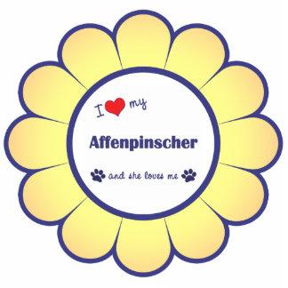 I Love My Affenpinscher (Female Dog) Photo Sculpture Decoration