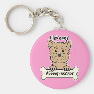 I Love My Affenpinscher Key Ring