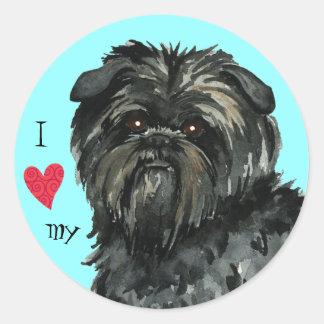 I Love my Affenpinscher Round Sticker