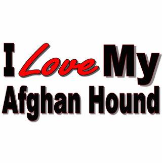I Love My Afghan Dog Breed Merchandise Photo Sculpture Key Ring