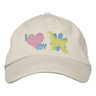I Love my Afghan Hound Embroidered Hat Embroidered Baseball Cap