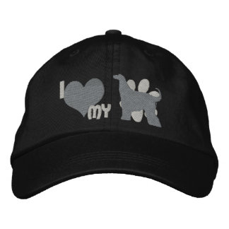 I Love my Afghan Hound Monochrome Embroidered Hat Embroidered Baseball Cap
