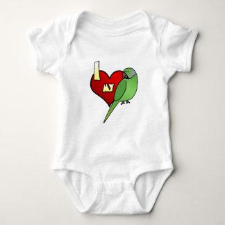 I Love my African Ringneck Parakeet Baby Bodysuit