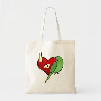 I Love my African Ringneck Parakeet Bag