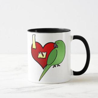 I Love my African Ringneck Parakeet Mug