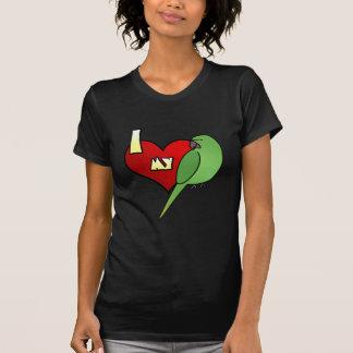 I Love my African Ringneck Parakeet T-Shirt