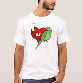 I Love my African Ringneck Parakeet Tshirt