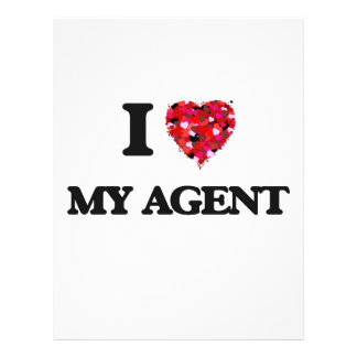I love My Agent 21.5 Cm X 28 Cm Flyer