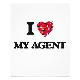 I love My Agent 11.5 Cm X 14 Cm Flyer