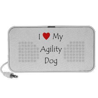 I Love My Agility Dog iPod Speakers